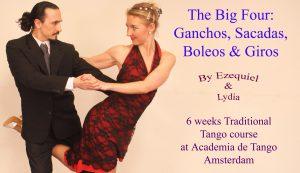 Tango course L5: Ganchos, Sacadas, Boleos & Giros @ Academia de Tango | Amsterdam | Noord-Holland | Netherlands